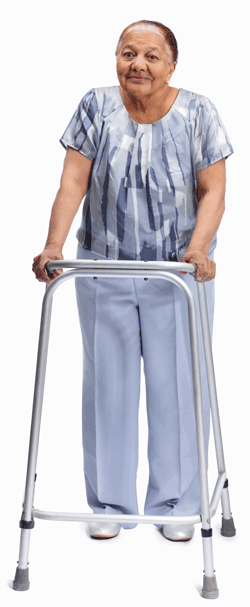 Lady with walking frame